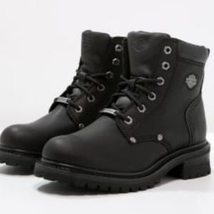 Harley-Davidson lace up leather boots